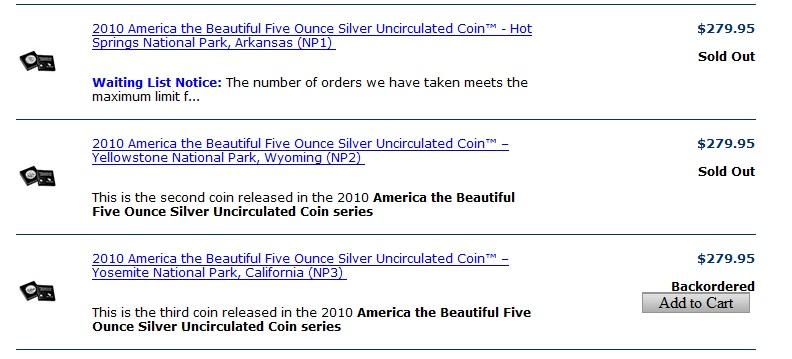 信息:US Mint 第三个5oz 公园币开卖(6月9日中午12点开卖