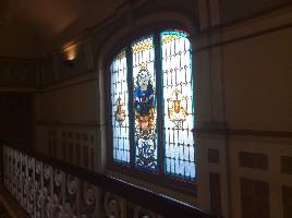 火车站昂贵的玻璃花窗